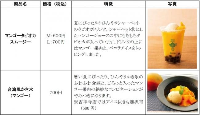 台湾茶カフェ彩茶房で夏限定メニューを7月10日(水)から発売します!【PR TIMES(京王電鉄株式会社)】