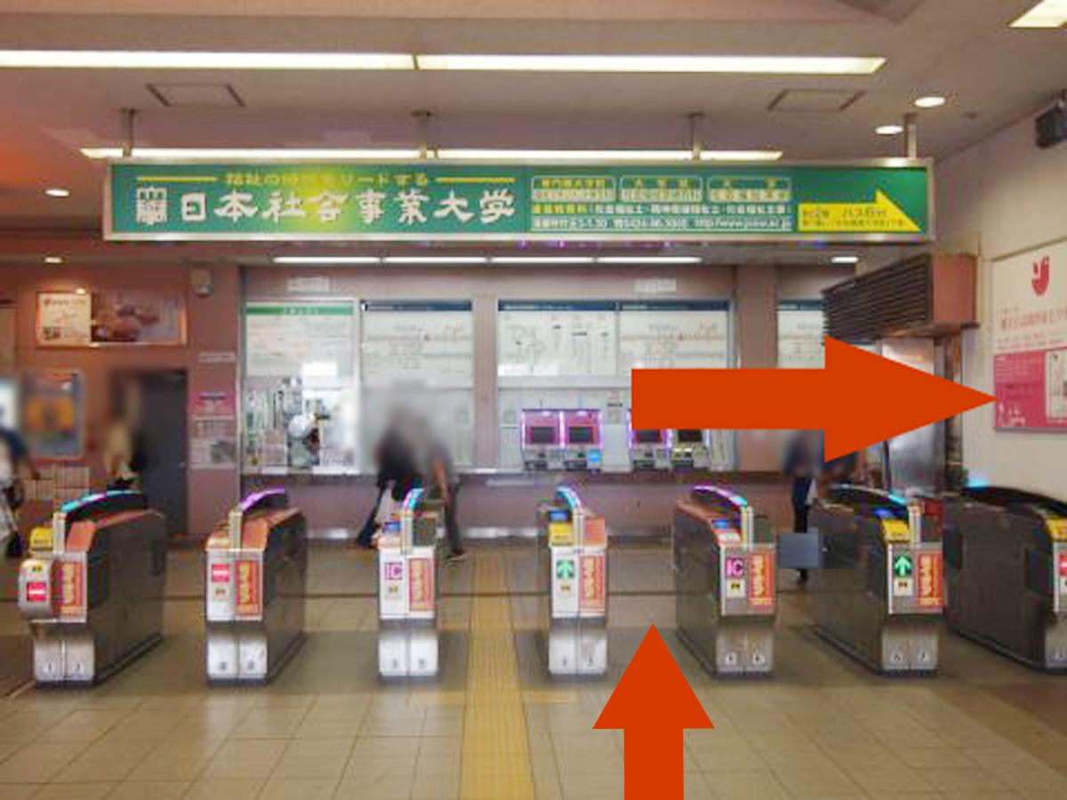 清瀬駅改札