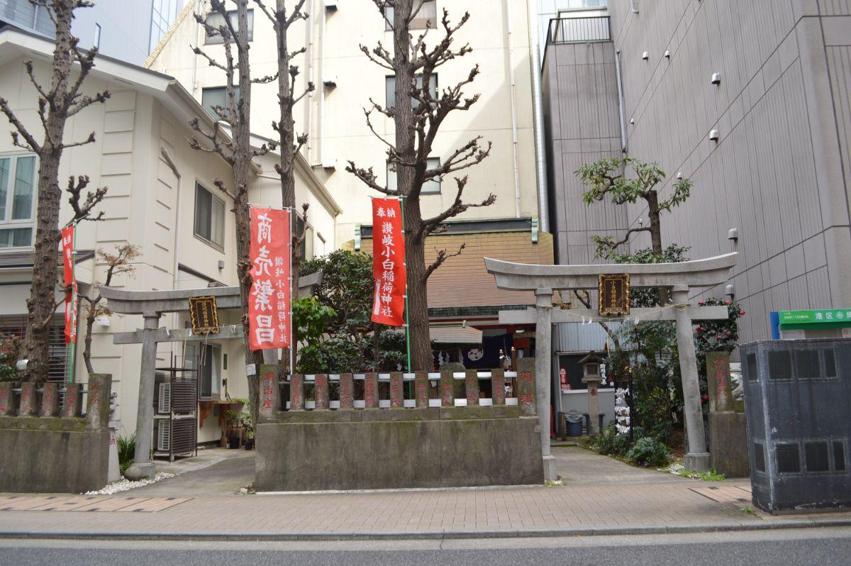讃岐小白稲荷神社(左右にある鳥居)